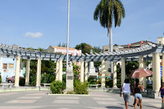 Camillo Cienfuegos monument on Marte square at Santiago de Cuba Stock Photography