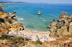Camilo Beach in Algrave, Portugal Stock Photography