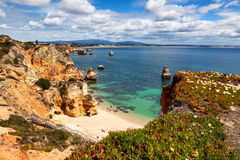 Camilo beach Praia do Camilo near Lagos, Algarve, Portugal.  royalty free stock images