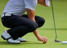 Camilo Villegas practices putting Stock Images