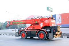 Camión de la grúa Foto de archivo libre de regalías