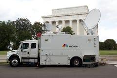 Camión de las noticias del NBC Imagenes de archivo