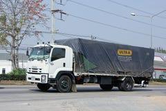 Camión de remolque del cargo de Rungthip Asia Transport Company Foto de archivo libre de regalías