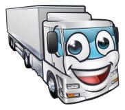 Camión Lorry Transport Mascot Character de la historieta Imágenes de archivo libres de regalías