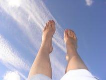 Caminando el cielo Foto de archivo libre de regalías