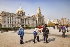 Caminando en la Federaci?n, Shangai fotos de archivo