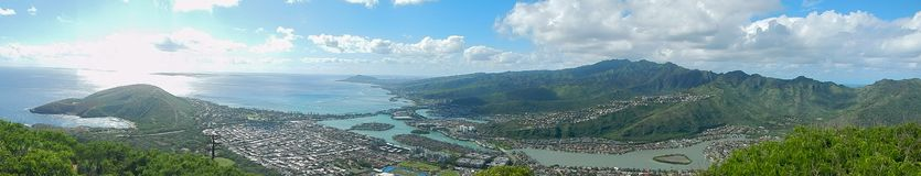 Caminando en Oahu, Hawaii, los E.E.U.U. imagenes de archivo