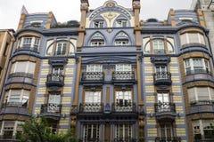 Caminando a través de Bilbao, España Paseo de la Memoria imagen de archivo