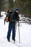 Caminante alpestre - Montana Fotografía de archivo
