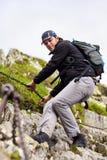 Caminante caucásico joven Fotografía de archivo libre de regalías
