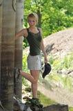 Caminante de la mujer Imagen de archivo libre de regalías