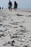 Caminante de la playa Imagen de archivo
