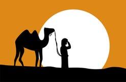 Caminante del desierto stock de ilustración