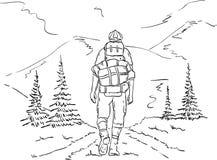 Caminante en el viaje libre illustration