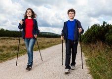 Caminante nórdicos Fotos de archivo libres de regalías