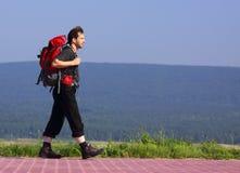 Caminante que recorre Foto de archivo libre de regalías