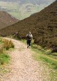 Caminante, turista, colmo escocés fotos de archivo