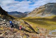 Caminantes de Klondike Fotos de archivo libres de regalías