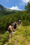 Caminantes de la montaña Imagen de archivo libre de regalías