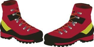 Caminar botas ilustración del vector