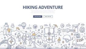 Caminar concepto del garabato de la aventura ilustración del vector