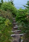 Caminar la escalera al aire libre de la trayectoria a lo largo del trai de la costa este fotos de archivo libres de regalías