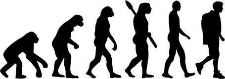 Caminar la evolución ilustración del vector