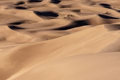 Caminar las dunas Imágenes de archivo libres de regalías