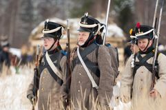 Caminar a soldados Imagenes de archivo