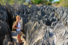 Caminar Tsingy imagen de archivo libre de regalías