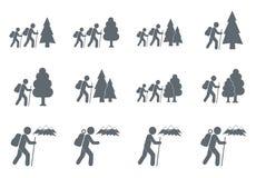 Caminar vector del ejemplo del icono Imágenes de archivo libres de regalías