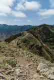 Caminar viaje en las montañas de Anaga cerca de Taborno en la isla de Tenerife Fotografía de archivo libre de regalías