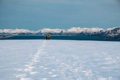 Caminar viaje en Noruega septentrional Fotos de archivo libres de regalías