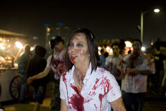 Caminata 1 del zombi del LA Imágenes de archivo libres de regalías