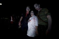 Caminata 19 del zombi del LA Fotos de archivo