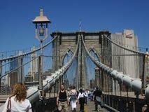 Caminata 5 del puente de New York City Brooklyn Fotografía de archivo libre de regalías