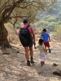 Caminata con el papá Imagenes de archivo