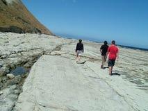 Caminata costera Fotografía de archivo libre de regalías