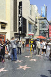 Caminata de Hollywood de estrellas en Los Ángeles Imagen de archivo libre de regalías
