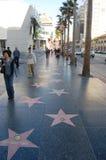 Caminata de Hollywood de la fama Imágenes de archivo libres de regalías