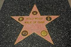 Caminata de Hollywood de la fama Fotografía de archivo libre de regalías