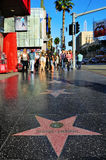 Caminata de Hollywood de la fama Fotos de archivo libres de regalías