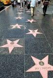 Caminata de Hollywood de la fama Imagen de archivo libre de regalías