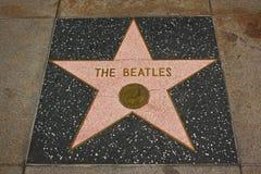 Caminata de Hollywood de la fama - el Beatles Foto de archivo