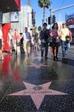 Caminata de Hollywood de la fama en Hollywood Imagen de archivo libre de regalías