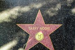 Caminata de Hollywood de la fama Estrella por nombre de Garry Moore Los Ángeles, los E foto de archivo libre de regalías