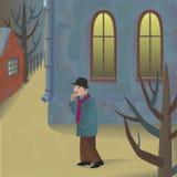 Caminata de la calle ilustración del vector