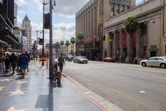 Caminata de la fama Foto de archivo libre de regalías