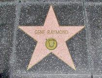 Caminata de la fama - gene Raymond de Hollywood Fotos de archivo libres de regalías