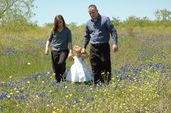 Caminata de la familia Imagen de archivo